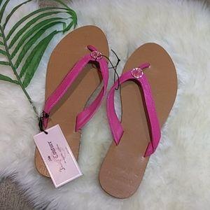 Juicy Couture lizard print thong sandal